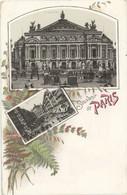 75 Paris Précurseur Litho Souvenir Opéra Et Avenue De L'Opéra - Otros