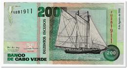 CAPE VERDE,200 ,ESCUDOS,1992,P.63,VF - Cap Verde