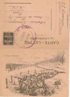 Correspondance Militaire - Carte-Lettre De L'espérance Illustrée (2/04/1916) (BP) - Documenten