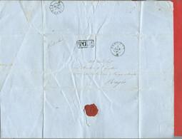 REGNO D'ITALIA FRANCHIGIA - 1861 Lettera Con Testo TODI PERUGIA - Annullo NON COMUNE - Marcophilie