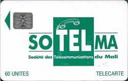 Mali - SoTelMa - Green Logo, Cn. 40699 Embossed, SC5 Afnor, 60U, Used - Mali