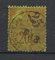 Gabon - 1886 - N°Yv. 3 - Alphée Dubois 25 Sur 20c Brique - Oblitéré / Used - Gebruikt