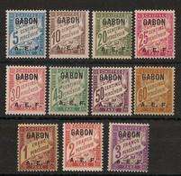 Gabon - 1928 - Taxe TT N°Yv. 1 à 11 - Série Complète - Neuf * / MH VF - Ongebruikt