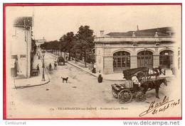CPA 69 VILLEFRANCHE SUR SAONE  Boulevard Louis Blanc Dos Ligné  ( Gare Des Tramways - Villefranche-sur-Saone