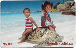 New Caledonia - OPT - Ile Des Pins, Enfants à La Tortue, Gem1A Symmetr. Red, 2003, 25Units, 100.000ex, Used - Neukaledonien