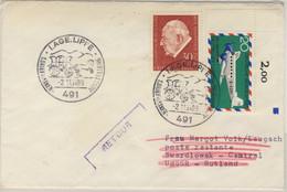 BRD - Postkrieg 20 Pfg. Ju52 Brief I.d. UDSSR SST Lage 1969 Retour N. Luxemburg - Unclassified