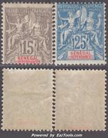 Senegal Dallay N° 23 Et 24 Neufs * TB (cote 65€) - Unused Stamps