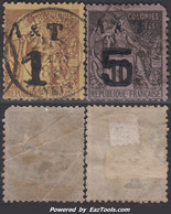 Annam Tonkin Dallay N° 1 3 Oblitérés (cote Dallay 105€) - Oblitérés