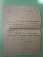 Note Autographe Charles-Ange LAISANT (1841-1920) MATHEMATICIEN - ECOLE POLYTECHNIQUE - ANARCHISTE - Autographs