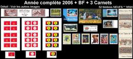WALLIS ET FUTUNA Année Complète 2006 + BF 21 + Carnets C652 C654 C657 - Yv. 651 à 671 + … ** MNH - 52 Tp ..Réf.W&F22634 - Full Years
