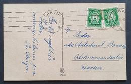 Norwegen 1944, Postkarte MeF LARVIK - Briefe U. Dokumente