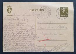 Norwegen 1944, Postkarte FLUBERG - Briefe U. Dokumente