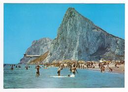 GIBRALTAR N°23 La Linea De La Conception Playa Plage De Santa Barbara Avion Qui Va Se Poser VOIR DOS - Gibraltar