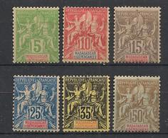 Madagascar - 1900-06 - N°Yv. 42A à 47 - Série Complète - Neuf * / MH VF - Ungebraucht