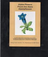 FLEURS Des ALPES / ALPINE FLOWERS / ALPENPFLANZEN - DEPLIANT AVEC 12 TABLES EN COULEUR & 57 ILLUSTATIONS - Natura