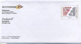 Phil@poste Enveloppe 1er Jour Neuve Invitation Budapest Agrément 809 LOT G4K/10M170 - Prêts-à-poster:Stamped On Demand & Semi-official Overprinting (1995-...)