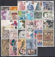 ESPAÑA 1980 Nº 2558/2598 AÑO COMPLETO USADO, 29 SELLOS + 2 HB - Full Years