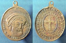 03160 MEDAGLIA RELIGIOSA MÉDAILLE RELIGIEUSE S.Anastasio II Martire Morbo Colerico Napoli - Sin Clasificación
