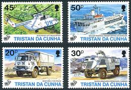 Tristan Da Cunha 1995 Casques Bleus Blue Helmets Mil Mi-26 Halo, Truck Bedford, Armoured Car Saxon, Ship Sir Tristram - UNO