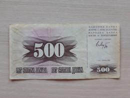 Bosnia Herzegovina 500 Dinara, 1992 - Bosnie-Herzegovine
