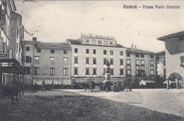 CIVIDALE DEL FRIULI-UDINE-PIAZZA PAOLO DIACONO-CARTOLINA VIAGGIATA IN FRANCHIGIA IL 19-2-1916 - Udine