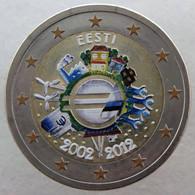 ET20012.2 - ESTONIE - 2 Euros Commémo. Colorisée 10 Ans De L'euro - 2012 - Estonia