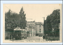 U6764/ Sceaux Rue Houdan Tramway Straßenbahn AK Ca.1930  -923- - Sin Clasificación
