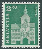 1964 SVIZZERA EDIFICI STORICI 2,20 F MH * - RD17-6 - Unused Stamps