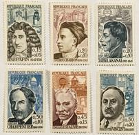 YT 1345-1350 (*) MH 1962 Célébrités (côte 16 Euros) – Grenier - Unused Stamps