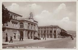 MESSINA-VIA GARIBALDI-TEATRO VITT. EMANUELE-CARTOLINA VERA FOTOGRAFIA VIAGGIATA IL 20-3-1934 - Messina