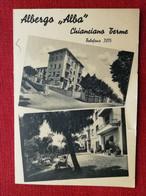 15 - CARTOLINA MENU ALBERGO - ALBA- CHIANCIANO TERME - Andere Steden