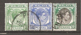 Malasia - Penang. Nº Yvert  8A, 10-11 (usado) (o) - Penang