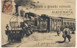 Saluti A Grande Velocita' - Viaggiata Da Macerata Per Cittadella Il 13/06/1905 + T.R. Privato Locale (2 Immagini) - Macerata