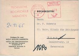 Technische Hochschule 8 München 1965 - An Schwetz Wien - Bücherzettel - Medicine