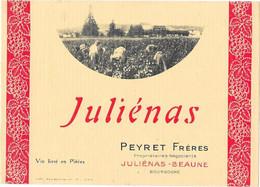 Juliénas - PEYRET Frères - Propriétaires-Négociants JULIENAS-BEAUNE - Ohne Zuordnung