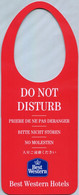 Best Western Hotels - Do Not Disturb (Recto-Verso) - Hotel Labels