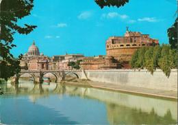 Italien - ENGELSBURG / CASTEL SANT'ANGELO Und Peterskirche Vom Tiber Aus Gesehen - Castel Sant'Angelo