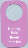 Evening Maid Room Service (Service De Chambre En Soirée) (Recto-Verso) - Hotel Labels