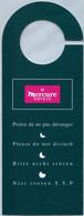 Mercure Hotels - Prière De Ne Pas Déranger (Recto-Verso) - Hotel Labels