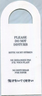''Ne Pas Déranger'' En Anglais, Allemand Et En Espagnol (Recto-Verso) - Hotel Labels