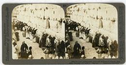 Palestine ~ JERUSALEM ~ Jews Wailing Place Stereoview Upsa21 - Stereoscoop