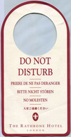 The Rathbone Hotel (London) - Do Not Disturb (Recto-Verso) - Hotel Labels