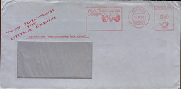 Koln 1988 - World Trade Center Cologne - Ema Meter Freistempel 080 - Used Cover To Italy - Affrancature Meccaniche Rosse (EMA)