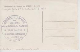 CPSM Saffré - Monument Du Maquis De Saffré - Cachet Commémoratif Du 11 Juin 1950 (inauguration Par Général De Gaulle) - Other Municipalities