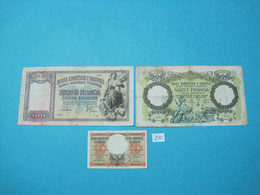 Albania Lot 3 X Different Banknotes ND 1939 - Albania