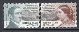 2019 Norfolk Island Resettlement Of Pitcairn Islanders Complete Set Of 2 MNH @ BELOW FACE VALUE - Isola Norfolk