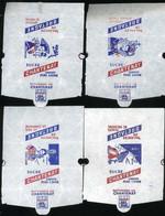 Emballage De Sucre Ancien  Chantenay Série Vacances En Bretagne Lot De 4 Emballages Différents Morbihan Pont L'abbé - Sugars