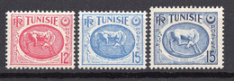 Colonies Françaises Tunisie 1950  Neufs** TB  N°343A,344A,345A  Ex N°2  0,50 €  (cote 3,75 €  3 Valeurs) - Unused Stamps