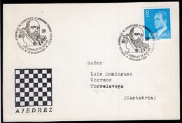 España - 1988 - Entier Postale - Cachet Spécial - Tournois - Thème Des échecs - Chess - Ajedrez - A1RR2 - Scacchi