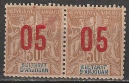 Anjouan N° 25 Et 25A* Chiffres Espacés - Ongebruikt